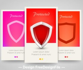 Shield cover vertical banners vector