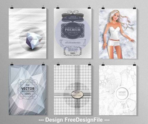 Simple but elegant poster background collection vector