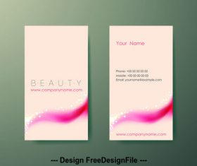 Single color business card design vector