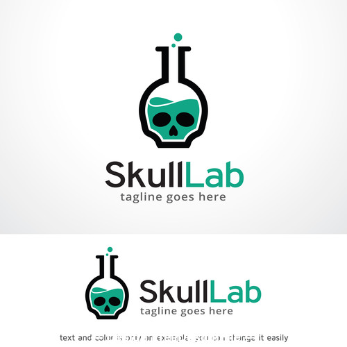 Skull lab logo vector