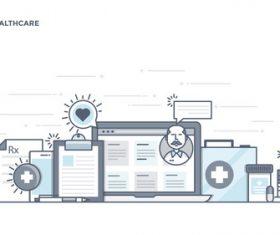 Smart Healthcare vector