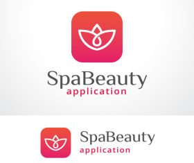 Spa beauty logo vector