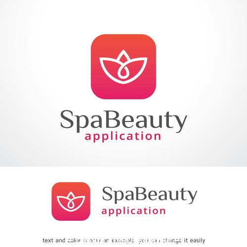 Spa beauty logo vector