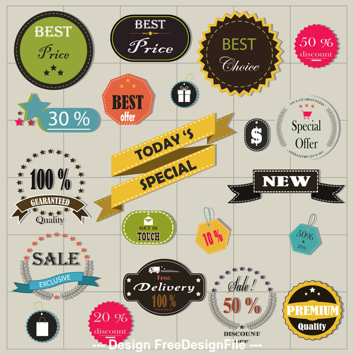 Special emblem label vector