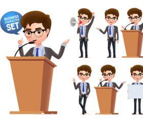 Speech illustration vector