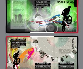 Sport news template vector