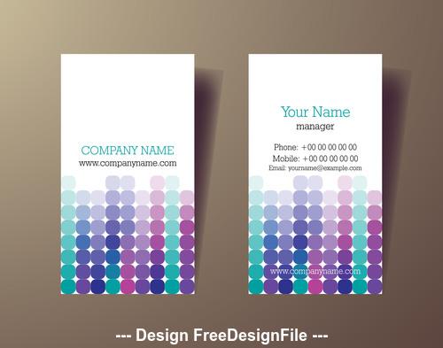 Spot pattern business card design vector