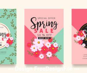 Spring sale card vector