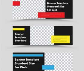 Standard size for wed banner wed template vector