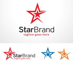 Star brand logo vector