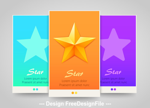 Star vertical banners vector