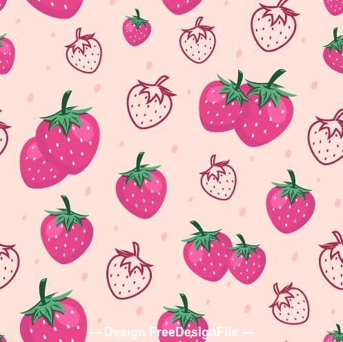 Strawberry seamless background pattern vector