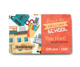 Student pencil discount card vector