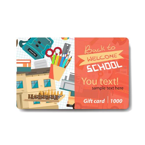 Student pencil discount card vector