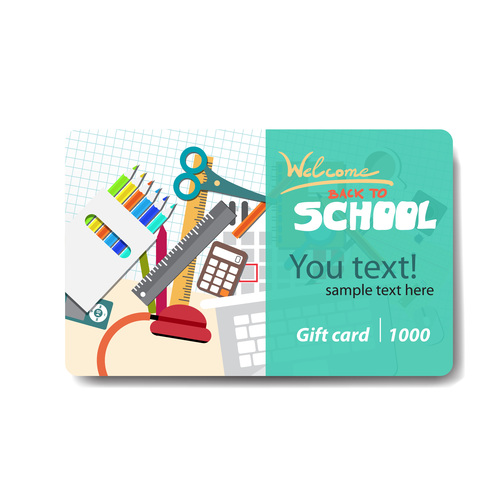 Student supplies discount card vector