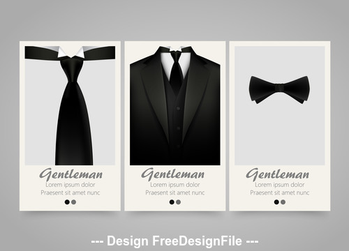 Suit cover vertical banners vector