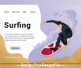 Surfing cartoon illustration vector