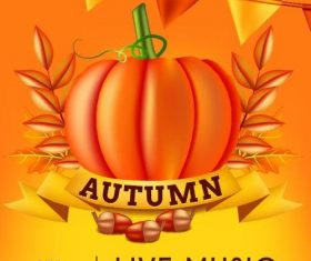 Thankgiving celebration and autumn background vector