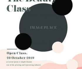 The Beauty Class PSD Flyer template