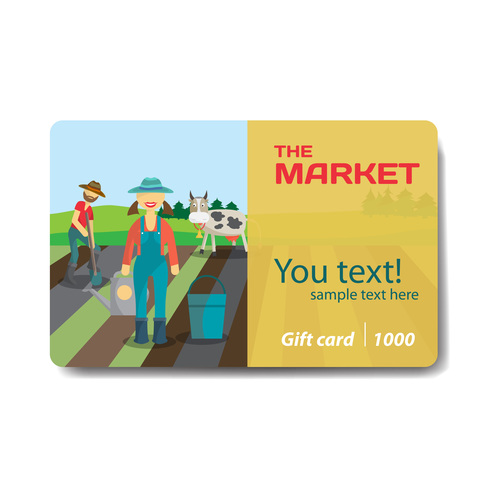 The market discount card vector