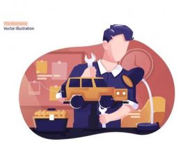 The mechanic vector illustration