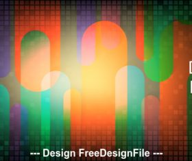 Three color abstract small checkered metal background vector