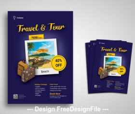 Travel and Tour Flyer Promo PSD Templates