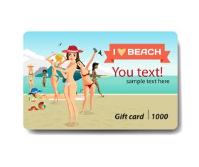 Travel discount gift card vector