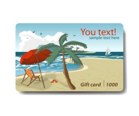 Travel gift card vector