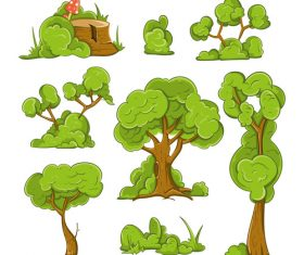 Tree cartoon illustration vector