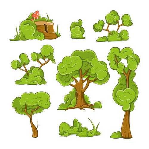 Tree cartoon illustration vector