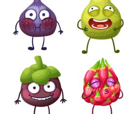 Tropical fruit cartoon expression vector