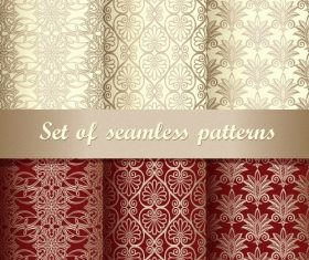 Two-color figuratus wallpaper pattern vector