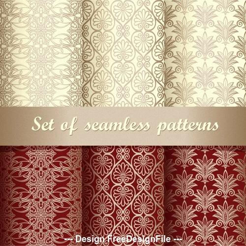 Two color figuratus wallpaper pattern vector