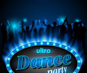 Ultra dance party poster vector