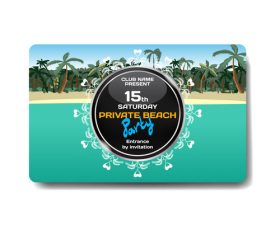 Vacation promotion gift card vector
