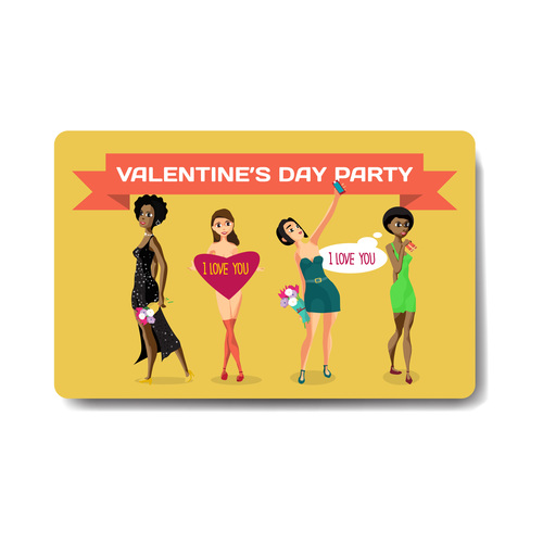 Valentine discount gift card vector