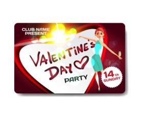 Valentine gift card vector