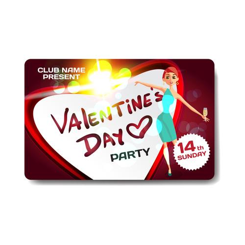 Valentine gift card vector