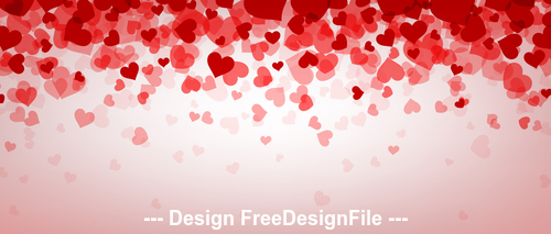 Valentine hearts background vector 01
