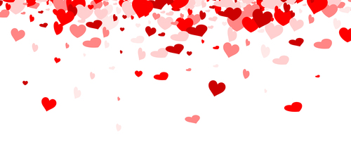 Valentine hearts background vector 02
