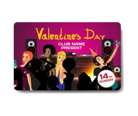 Valentine party gift card vector