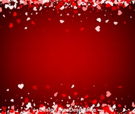 Valentine red background hearts vector