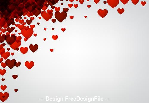 Valentine white background hearts vector