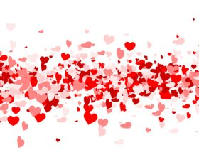 Valentines day red hearts vector
