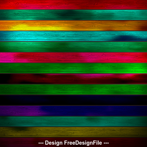 Various colors wooden boards design backgrounds vector