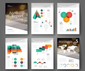 Vector infographics brochure color bokeh brown