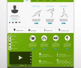 Video website templates vector