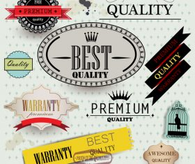 Vintage best quality label design vector