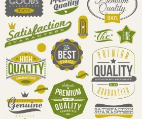 Vintage label design vector